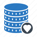 database, favorite, like, server, storage icon