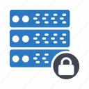 database, private, secure, server, storage icon