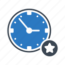 clock, favorite, starred, time, watch icon