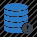 database, hosting, server, storage, upload icon