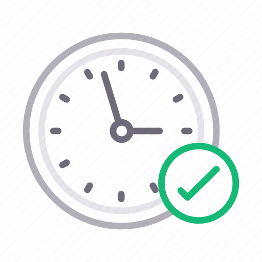 check, clock, complete, stopwatch, time icon