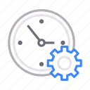 clock, configure, preference, setting, time icon
