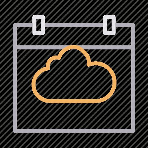 calendar, cloud, date, event, month icon