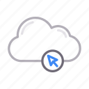 cloud, cursor, database, server, storage icon
