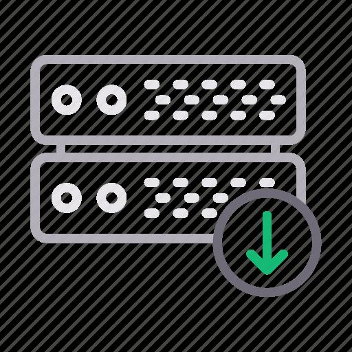 database, download, hosting, server, storage icon
