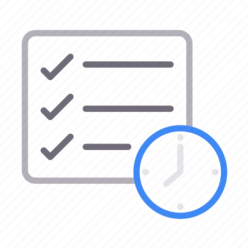 checklist, deadline, project, stopwatch, tasklist icon