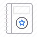 diary, directory, favorite, notebook, starred icon