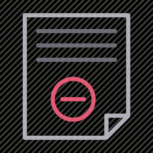 document, file, paper, remove, sheet icon