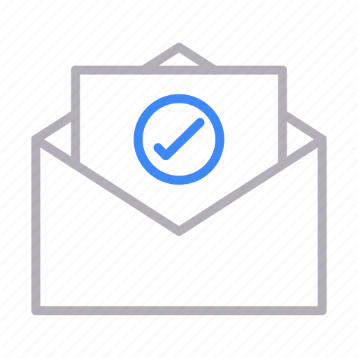 email, inbox, message, open, tested icon