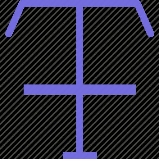 crossline, divide, drag, path, text, write icon