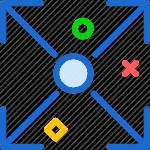 enlarge, fullscreen, increase, top icon