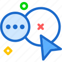 chat, conversation, messagesocial icon