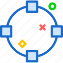 circle, divide, finder icon