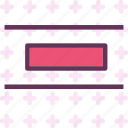 align, arrange, center, circle, sign, vertical icon