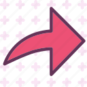 arrow, direction, forward icon