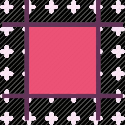 artboard, crop, square, tool icon