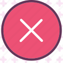 cancel, pause, stop, warn icon