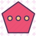chat, conversation, messagepoligon icon