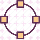 circle, path, point icon