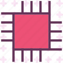 chip, cut, processor icon