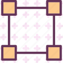 divide, edit, finder, path, square icon