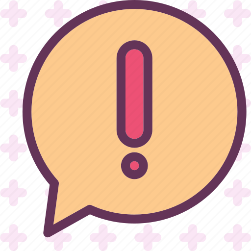 bubble, chat, exclamation, warn icon