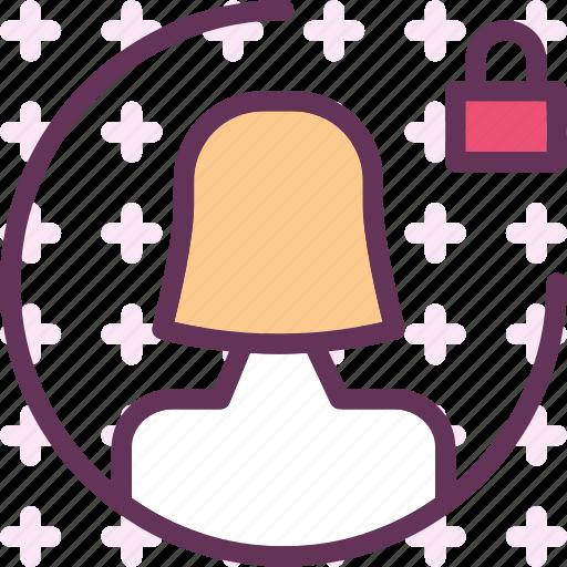 femaleavatar, gallery, lock, photos, picture icon