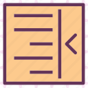allign, arrange, editleft, intend, text, write icon