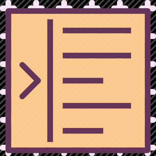 allign, arrange, editright, intend, text, write icon