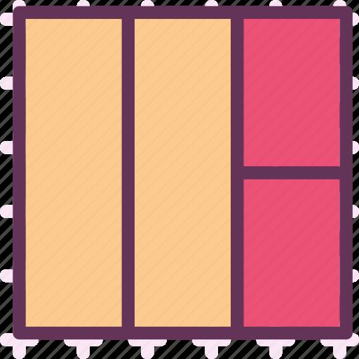 column, gallery, layers, layout, stylish, web icon
