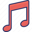 music note, eighth note, quaver, music icon