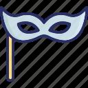 costume, carnival mask, mardi gras, eye mask icon