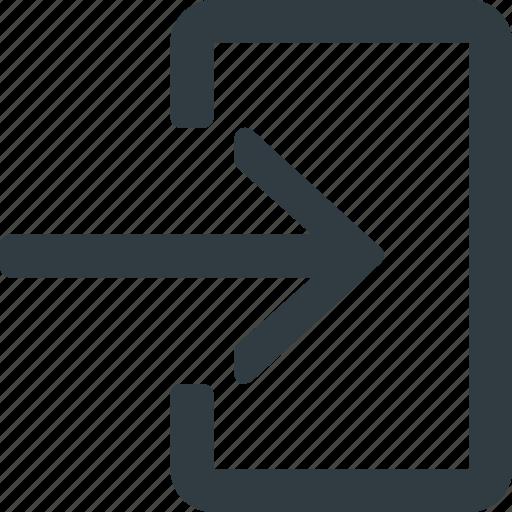 enter, interface, login, ui, user icon
