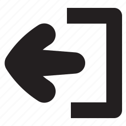 arrow, close, door, exit, log, out, quit icon