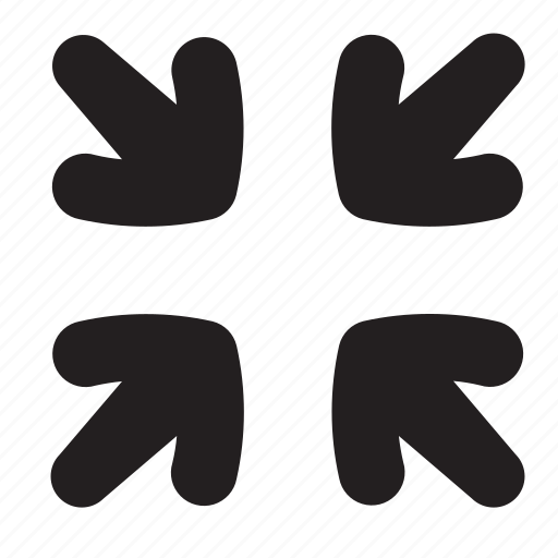 arrows, exit, full, minimize, screen icon