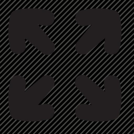 arrows, expand, full, maximize, screen icon