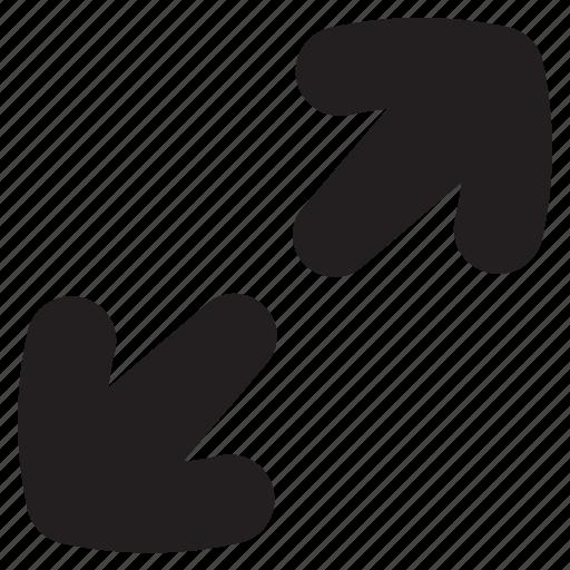 arrow, arrows, expand, full, maximize, screen, zoom icon