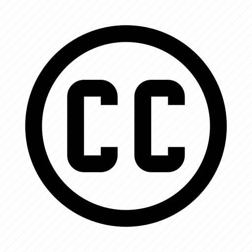 cc, commons, creative, license, rule icon