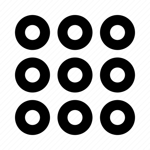 circle, dots, grid, menu, navigation, password, shape icon