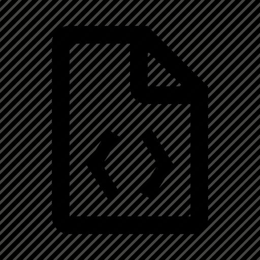 code, coding, development, document, file, programming icon