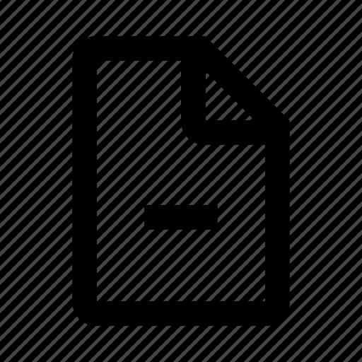 data, delete, file, remove, type icon