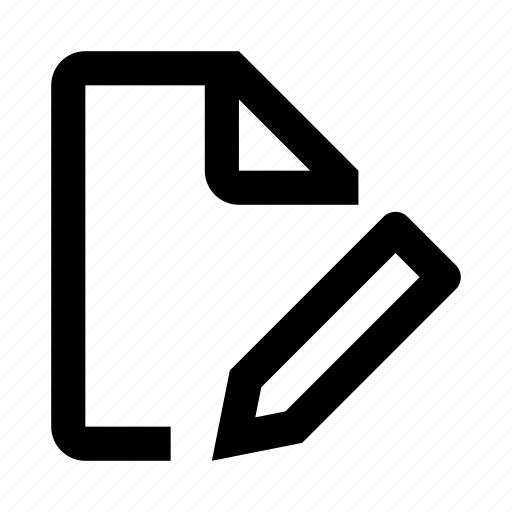 edit, editor, file, paper, pencil, text, write icon