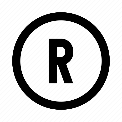 r, registered, sign, trademark icon
