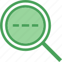 find, investigatedotted, research, search icon