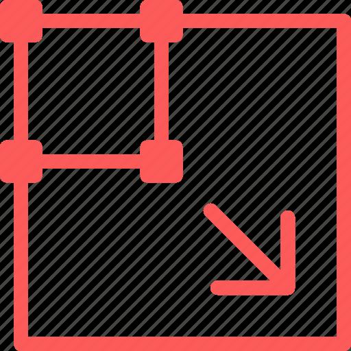 enlarge, reshape, scale, transform icon