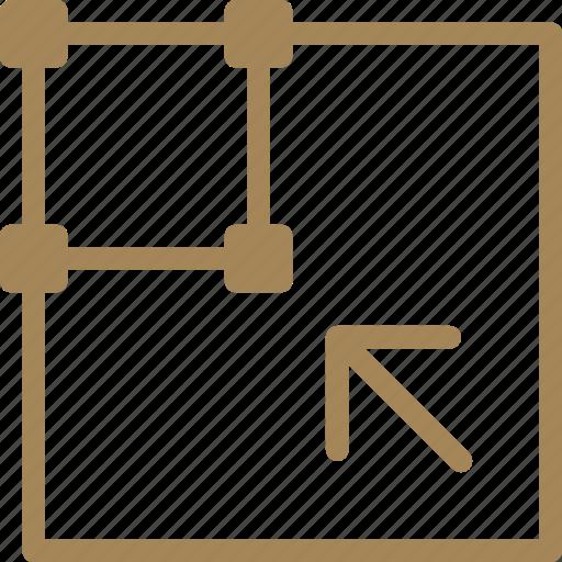 reshape, scale, shrink, transform icon