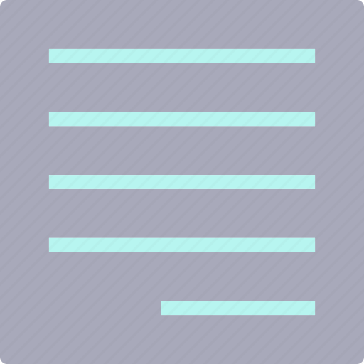 editalignright, text, write icon