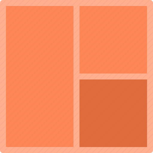 grid, layout, twocolumn icon