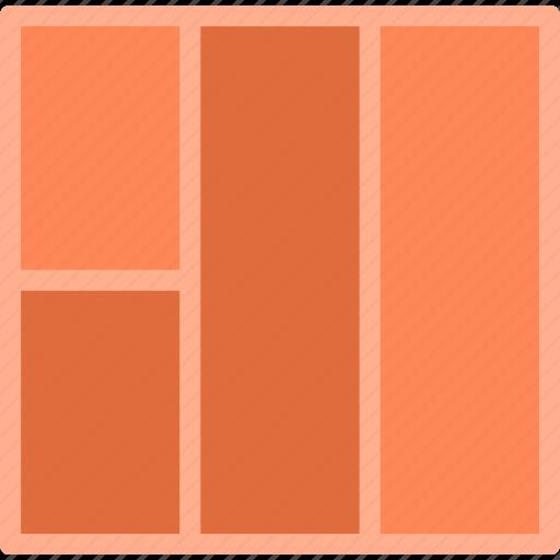 column, interface, layout, stylish, template icon