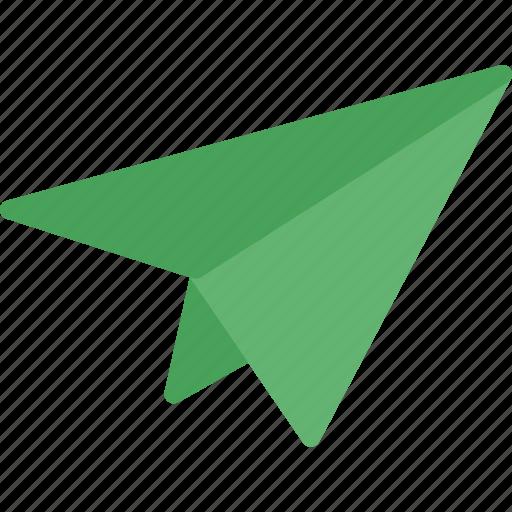 figurine, mailairplane, paper, send icon
